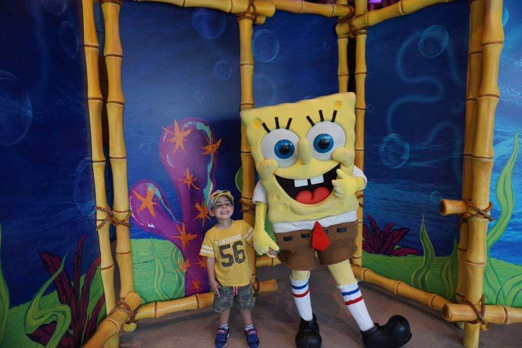 Finally, a picture with SpongeBob. Wish granted!