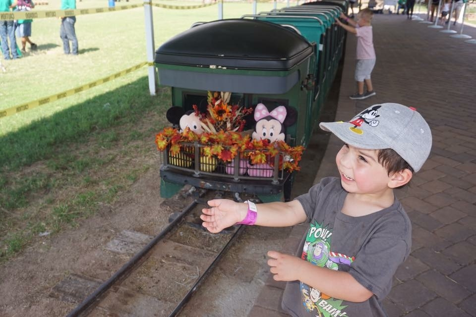 The train is one of the reasons why the Marana Pumpkin Patch is kid friendly.