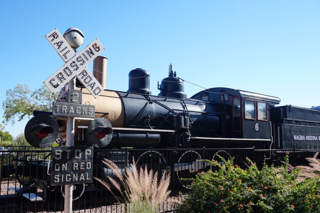 When you drive up to McCormick Stillman Railroad Park, you'll know you are in the right place when you see the train near the entrance!