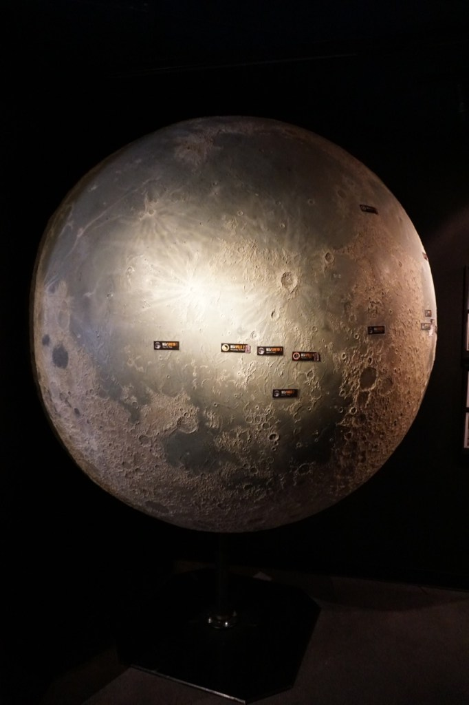 A model of the moon at Flandrau Science Center and Planetarium.