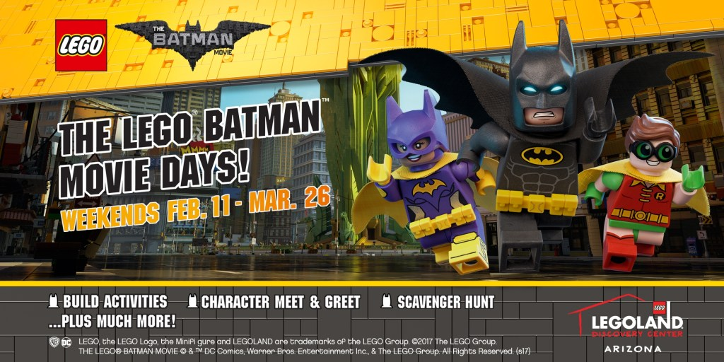 Want to experience The LEGO Batman Movie Days? Here's an opportunity to enter a giveaway for tickets to LEGOLAND Discovery Center Arizona.