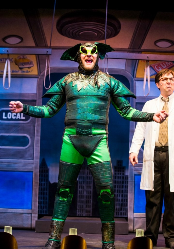 The Green Gremlin really does look like a gremlin! Photo provided by The Gaslight Theatre.