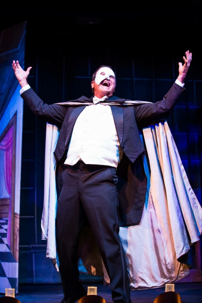 Armen Dirtadian plays a wickedly funny Phantom of the Opera. Photo provided by The Gaslight Theatre.