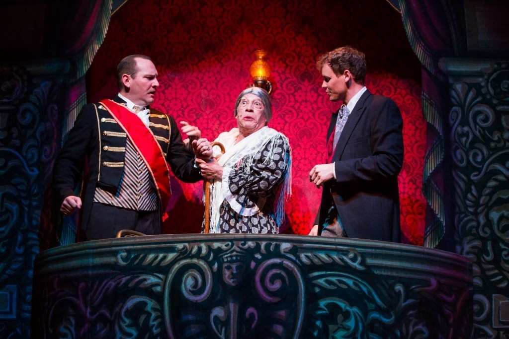 One of the many hilarious scenes from the Phantom of the Opera, Gaslight Theatre style.
