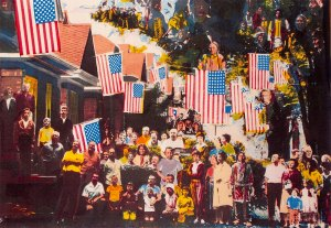 4th of July, silkscreen by Robert Ronnie Branaman