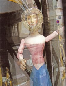 Heart Faced Doll Antique Store Window Paris, photograph by Roger Camp