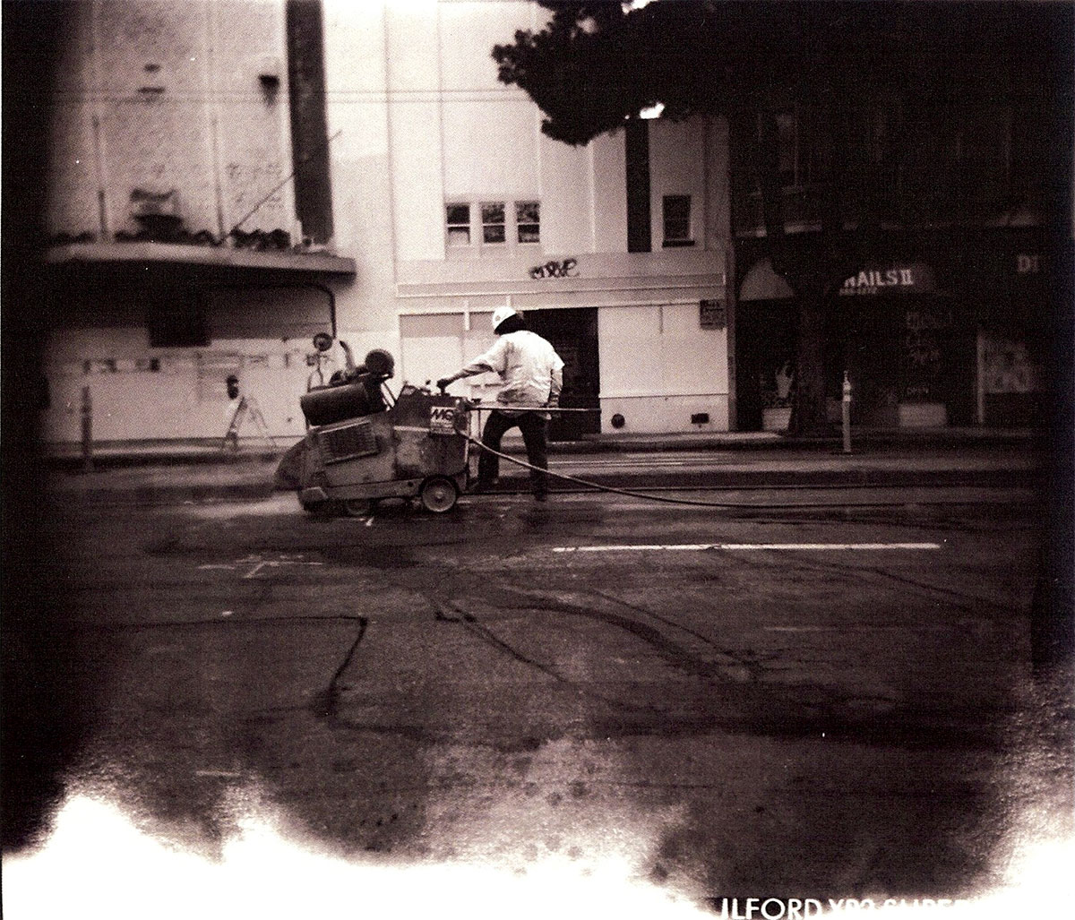 SF Divisadero Street Corner, photograph by Gabriel Faulkner-Macklin