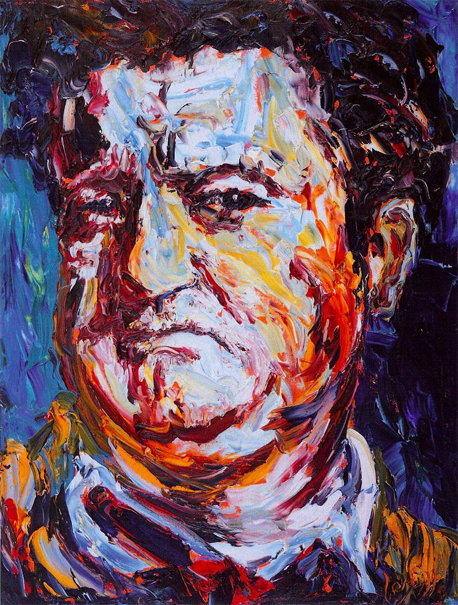 Brendan Behan, oil on canvas by Liam O'Neill