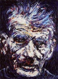 Samuel Beckett, oil on canvas by Liam O'Neill