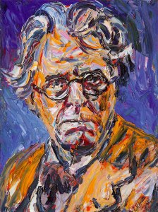 William Butler Yeats, oil on canvas by Liam O'Neill
