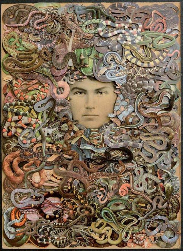 Hope Kroll, What Lies Beneath, hand cut paper collage, three dimensional