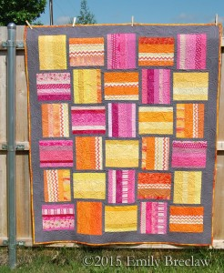 Brightly Woven quilt