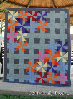 Pinwheel Jam quilt pattern by Emily Breclaw