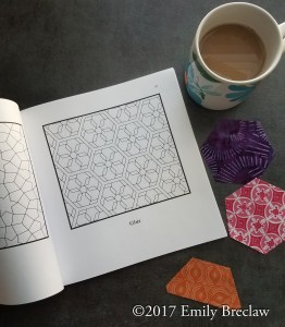 inside picture of Hexagonal Tilings and Patterns, showing a hexagon flower design