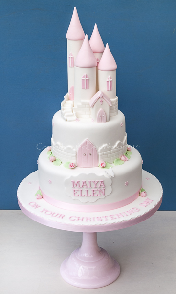 Princess Tower Christening Cake Christening Cakes