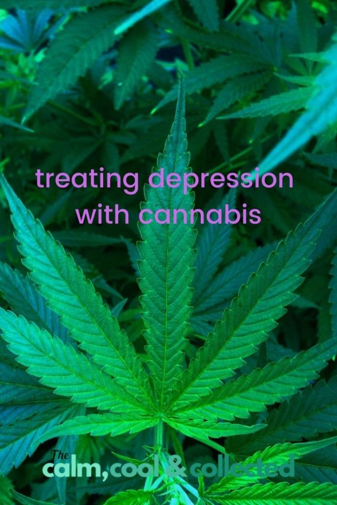Treating Depression with Cannabis pin 1