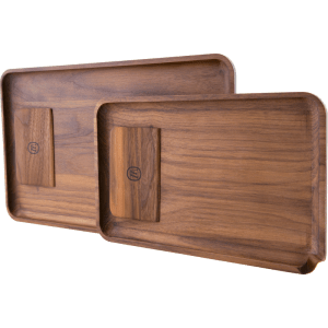 Marley Natural Black Walnut Large Tray with Scraper