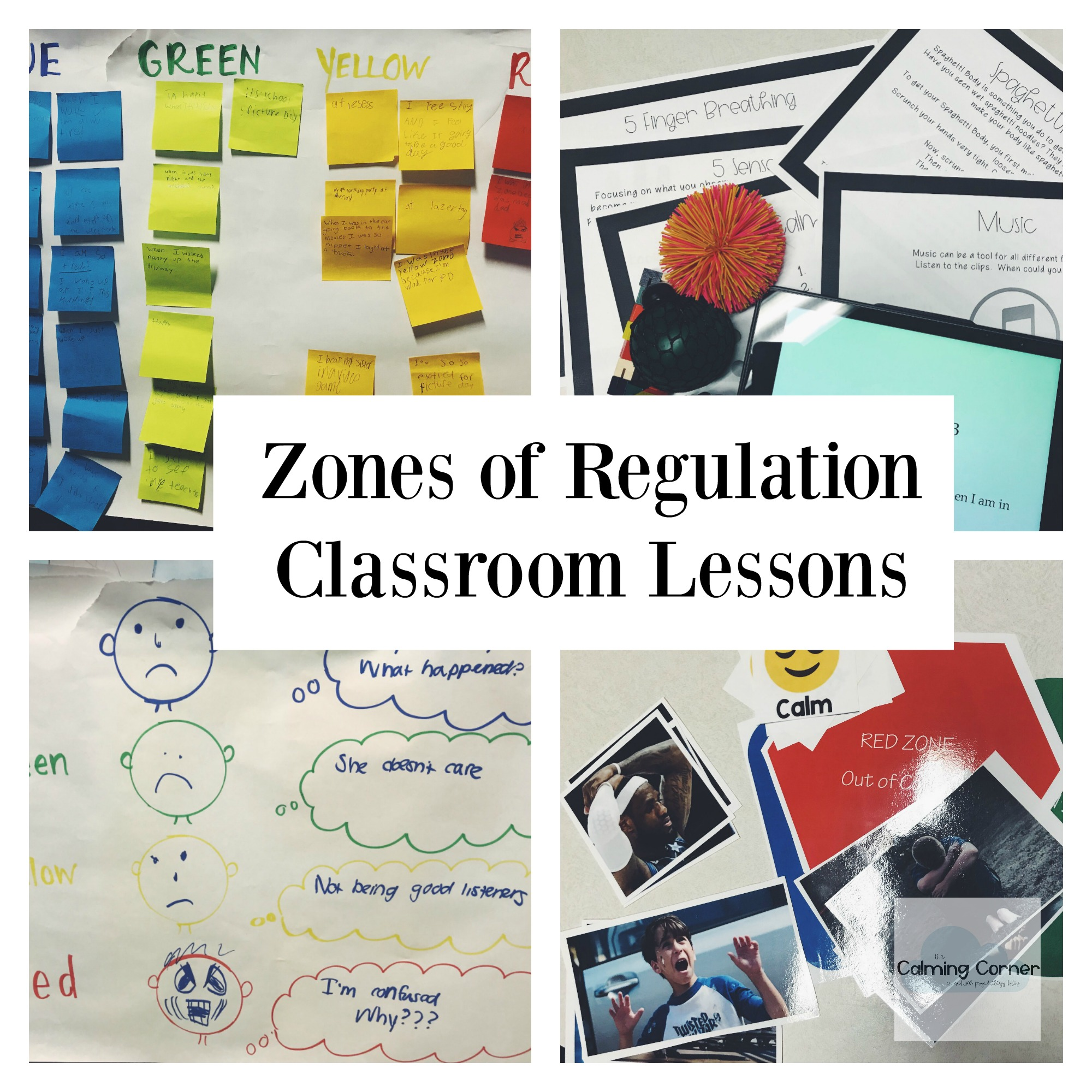 Zones Of Regulation As A Class Lesson Unit