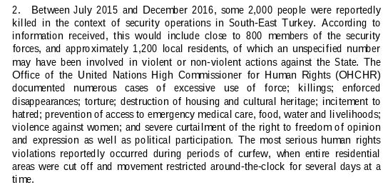 UN report on Turkey extract