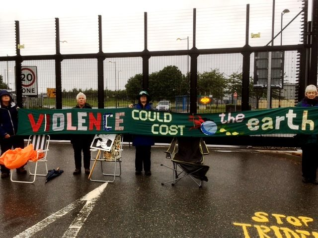Blockaded! Protesters stop work at AWE Burghfield – 20th June