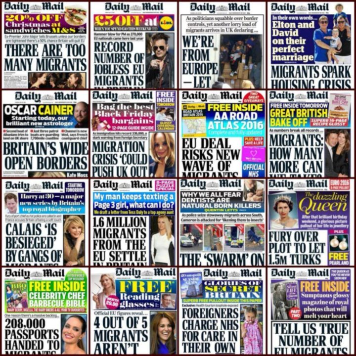 Daily Mail Front Pages