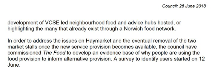 Statement by Councillor Malik on future removal of two market stalls