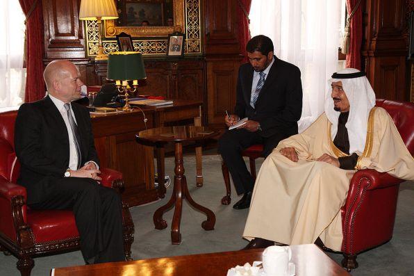 William Hague with Saudi Prince Salman Bin Abdul Aziz 2012