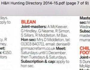 Horse & Hound hunting directory 2014/15