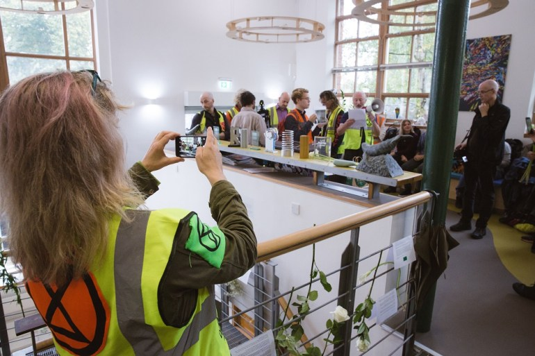 Activists in the Greenpeace office