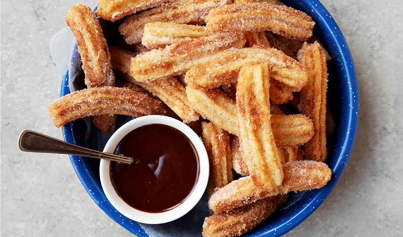 The Classics: Churros with Chocolate Dipping Sauce
