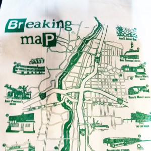 Breaking-Map hand tote