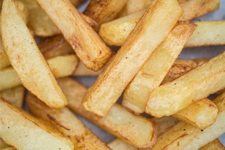 weed infused french fries shot in macro