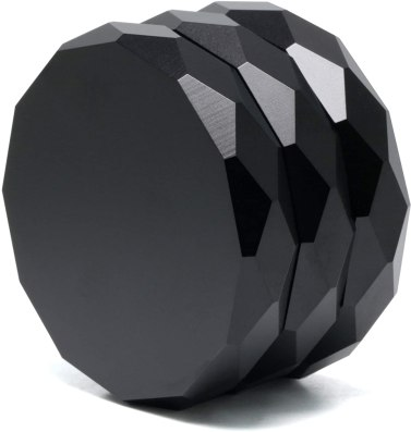 Black weed grinder that anodized and looks futuristic. The grinder is a three-piece variant. One of the best stoner gifts.