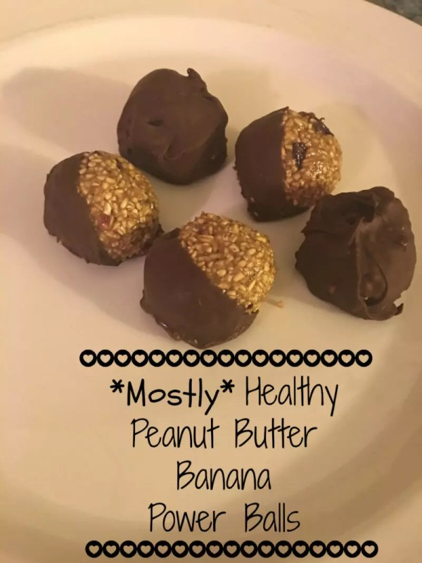 Mostly Healthy Peanut Butter Banana Power Balls will satisfy the sweetest of sweet tooth and give you energy to power through your afternoon!