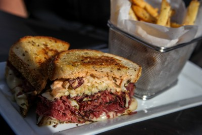 The Russian Reuben at Trevor's at the Tracks. Photo: Allison Jarrell