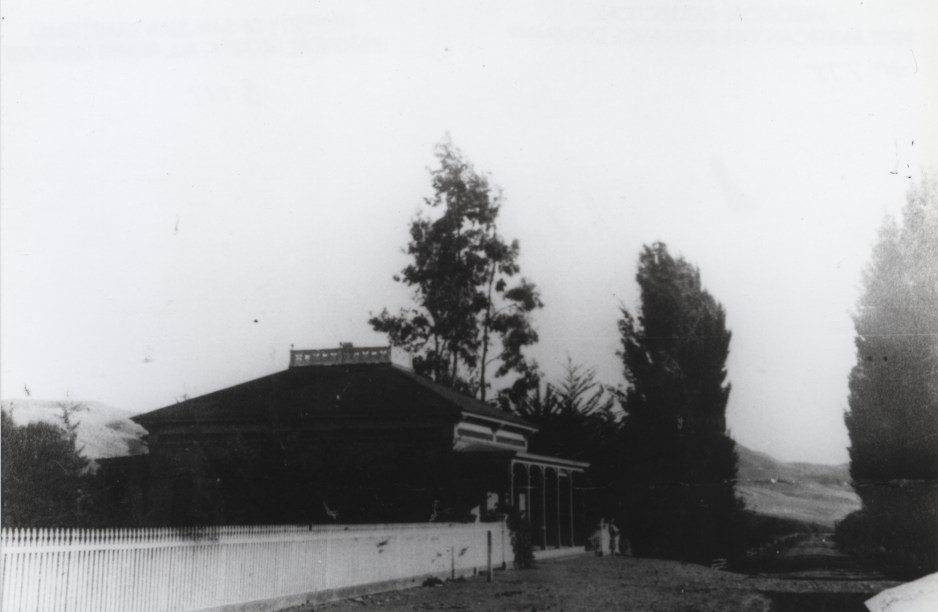 The Egan House was initially built without dormer windows, as seen in this photo circa 1885. Photo: Courtesy of the San Juan Capistrano Historical Society