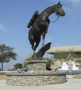 About a year ago, a statue of Sgt. Reckless was unveiled at Camp Pendleton. Photo: Courtesy of the U.S. Marine Corps