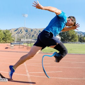 San Juan Capistrano native Trenten Merrill trains at the Elite Athlete Training Center in Chula Vista. Merrill began in sprints before moving to long jump. Photo: Courtesy Trenten Merrill Athletics