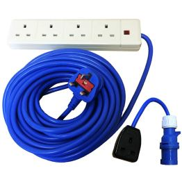 caravan accessories mains multi socket with hookup converter