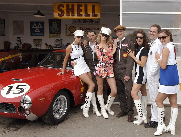 A Ferrari has always been the best way to get the girls - the Goodwood Revival is no different.