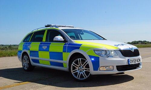 Skoda Superb police car