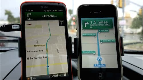 Google Maps vs Apple Maps on an iPhone