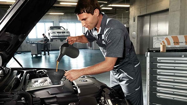 BMW car servicing