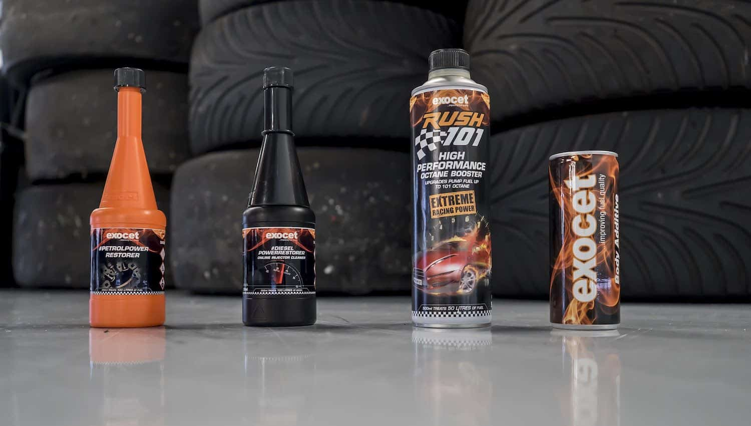Some of the products in Exocet's automotive range