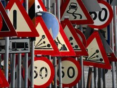 DVSA theory test road signs