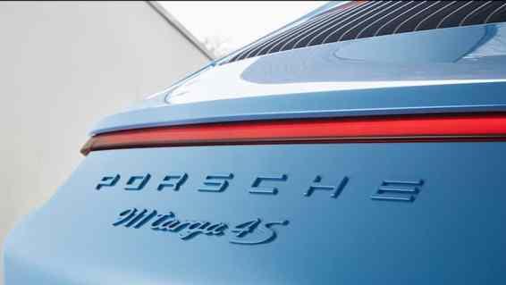 Porsche 911 Targa 4S Exclusive Design Edition rear badging