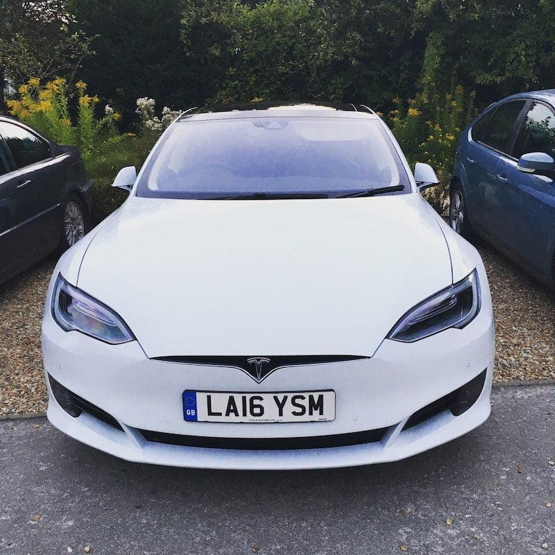 Tesla Model S of Whitecar rental