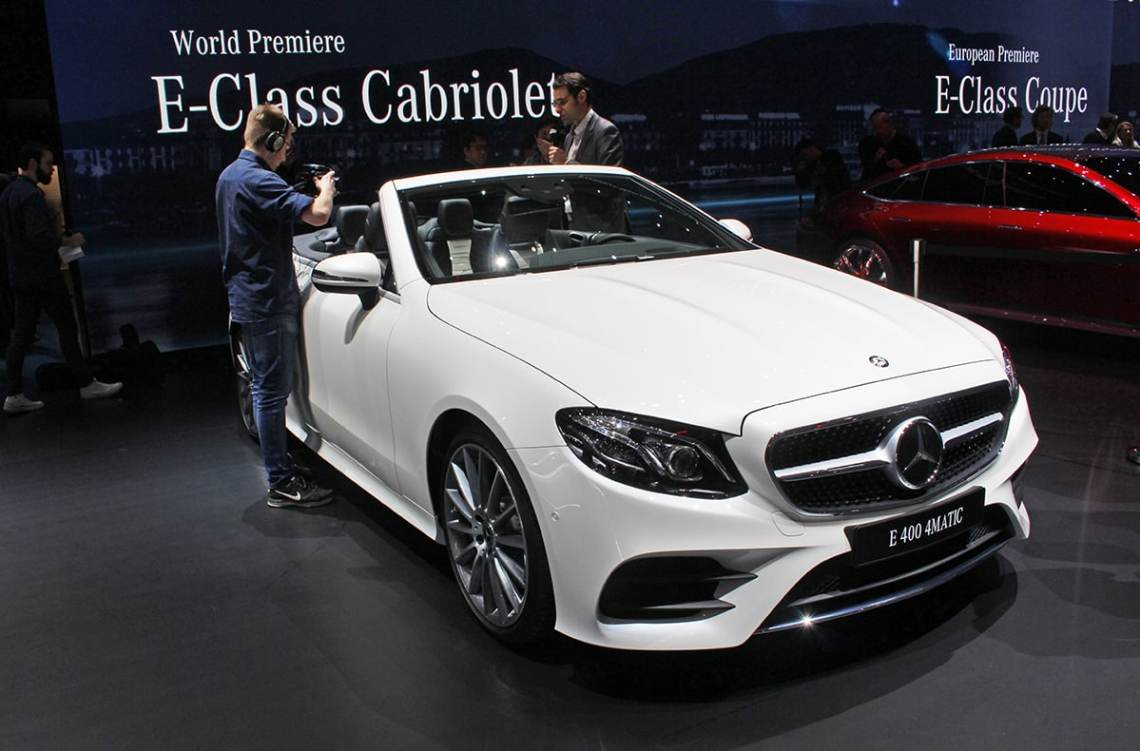 Mercedes E-Class Cabriolet joins Mercedes-Benz family at Geneva