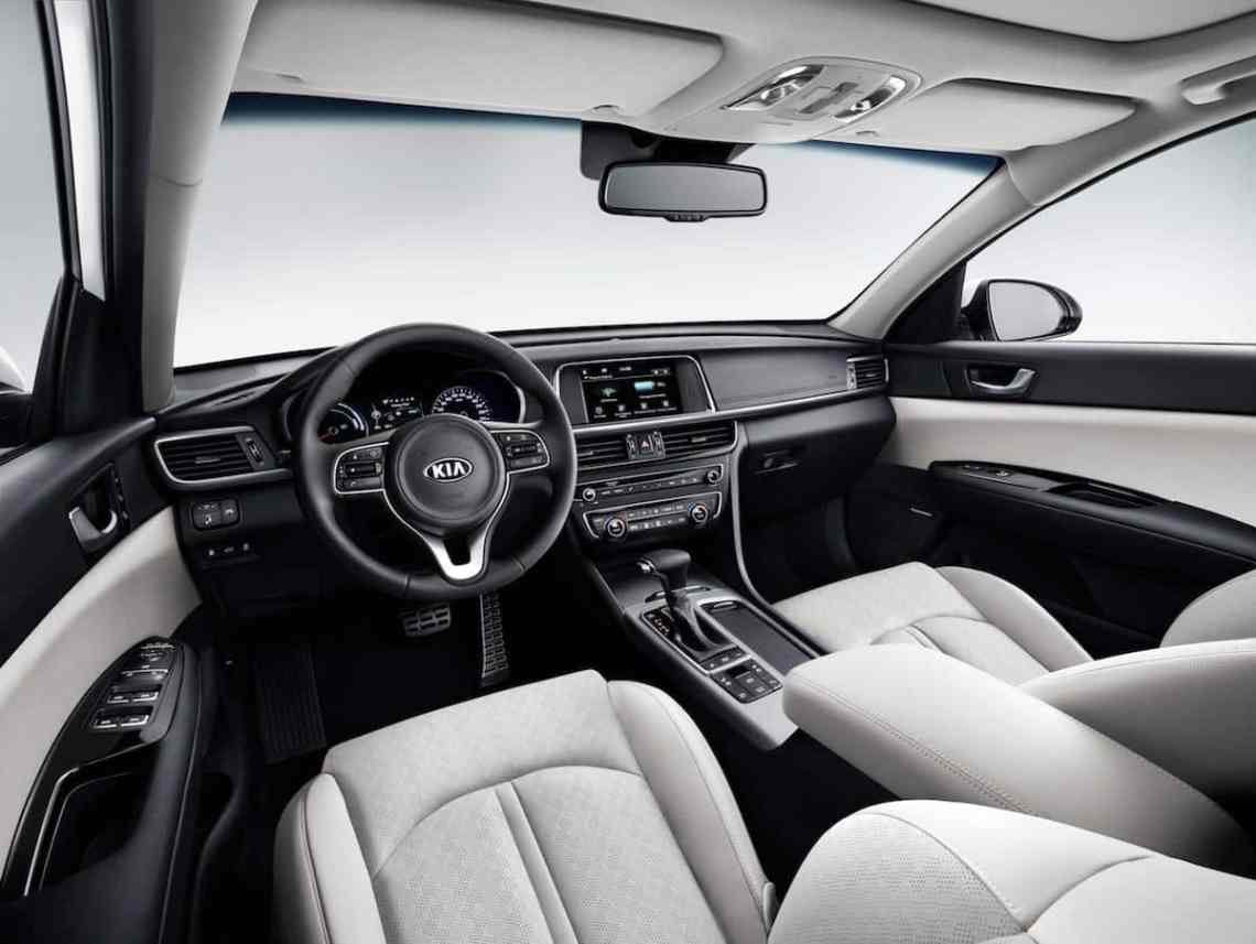 The interior of the Optima Sportswagon, the second of Kias two new plug-in hybrids