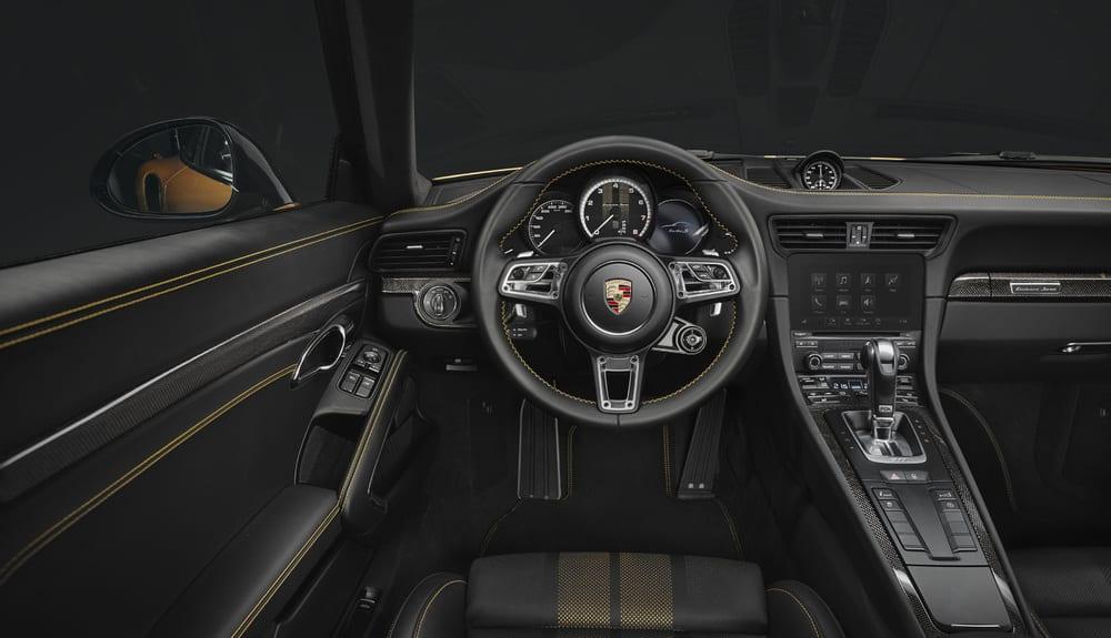 Interior of Porsche 911 Turbo S Exclusive Series